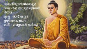 गौतम बुद्ध, Lord Gautama Buddha