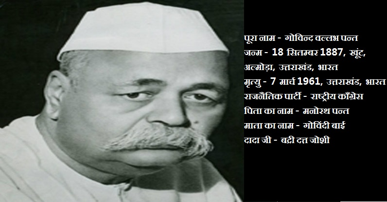 भारत रत्न गोविन्द वल्लभ पन्त , Govind Vallabh Pant