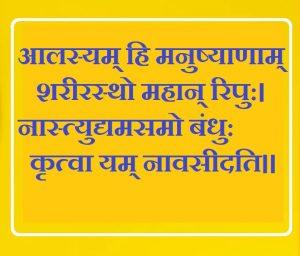 परिश्रम पर संस्कृत में श्लोक, Sanskrit Shlok on hard work in hindi, mehnat par sanskrit shlok, kathin parishram par sanskrit shlok
