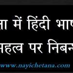 शिक्षा में हिंदी भाषा का महत्व पर निबन्ध, Shiksha me Hindi Bhasha Ka Mahtav, importance of hindi language in education,hindi bhasha essay